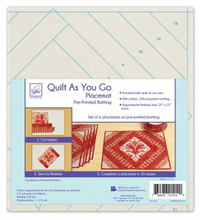 Quilt As You Go Placemats (6) - Casablanca