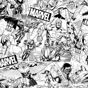 Fabric, Marvel, Avengers Sketch 73228A620715