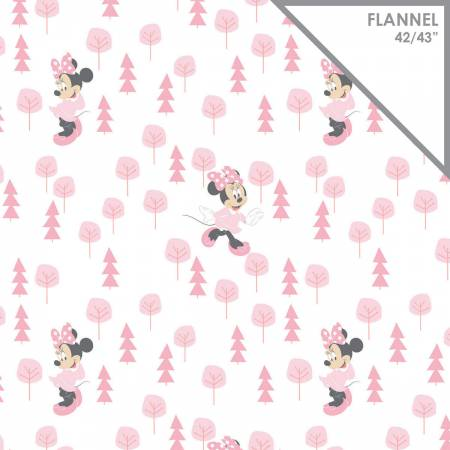Fabric, Flannel Disney Minnie Mouse in the Meadow 85270401B-1
