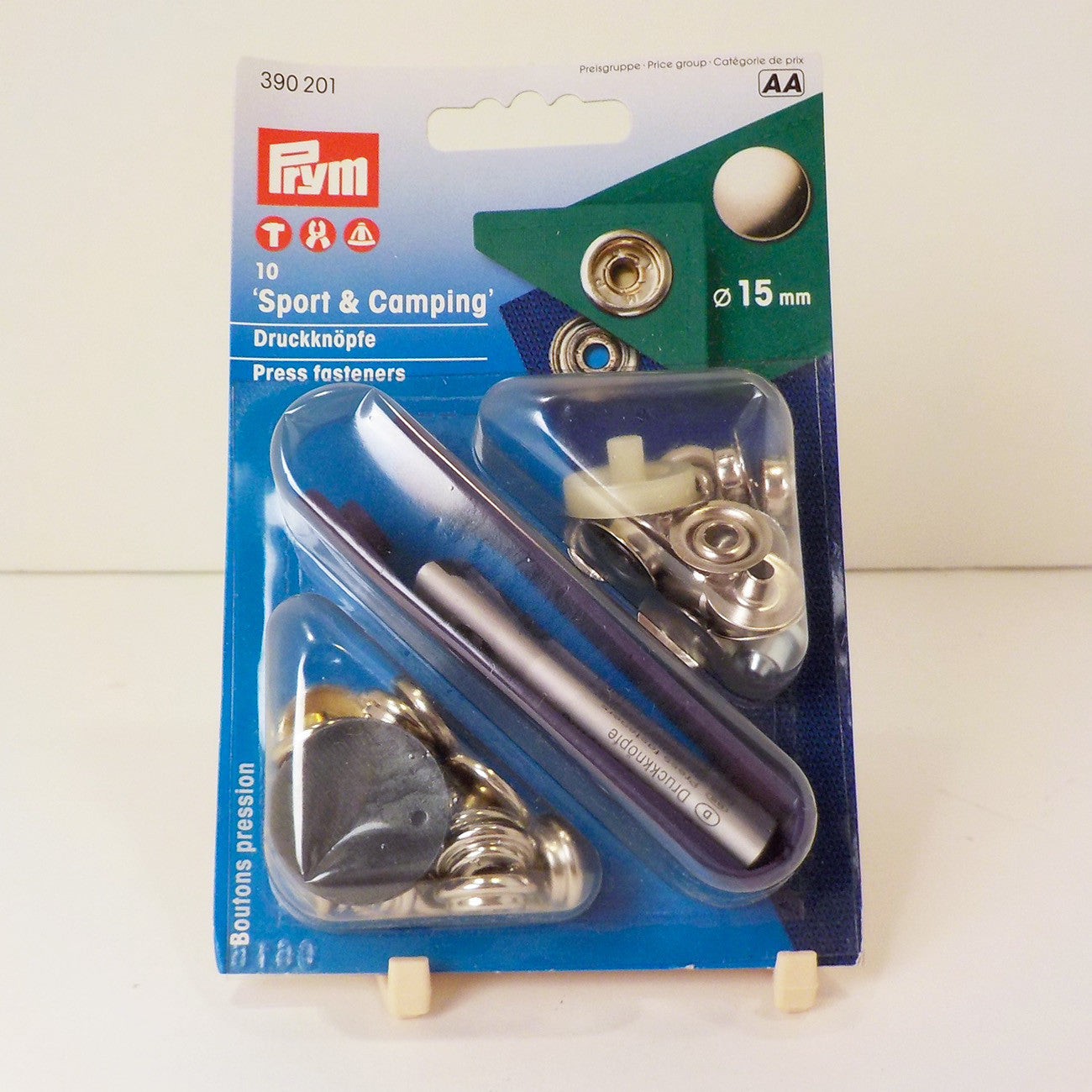 Prym Sport & Camping Press Fasteners, 15mm, Nickel
