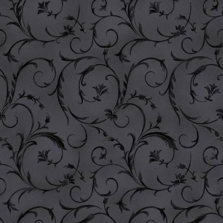 Fabric, Wide Back Soft Black Beautiful Backing 108/110in QB100M-J