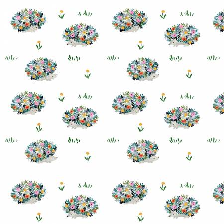 Fabric, Here Comes the Sun, White Porcupines DCJ1607WH