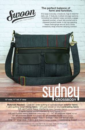 Swoon Pattern, Sydney Crossbody Bag SWN019