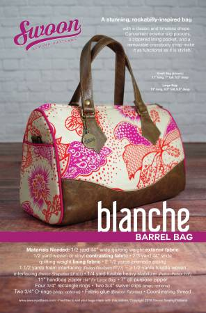 Swoon Pattern, Blanche Barrel Bag SWN002
