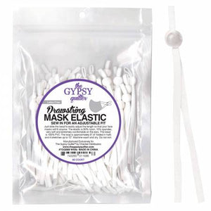 Elastic, Drawstring Mask Elastic White 8in 60ct # TGQ089