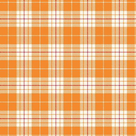 Fabric Flannel ,Primo Plaids Aunt Grace U091-0128 Orange