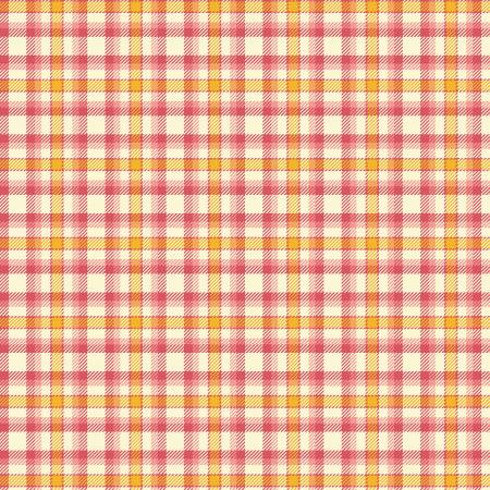 Fabric Flannel ,Primo Plaids Aunt Grace Pink and Gold U093-0126