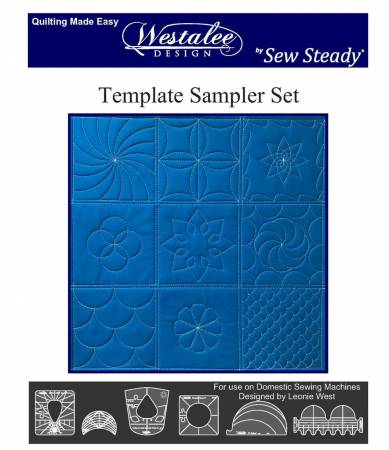 Sewing Machine Accessory, 6 pc Sampler Free Motion Low Shank Quilting Ruler Set WT-WQTSS-6-LS