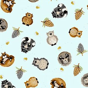 Fabric, Woodland Friends Furballs 20296-170