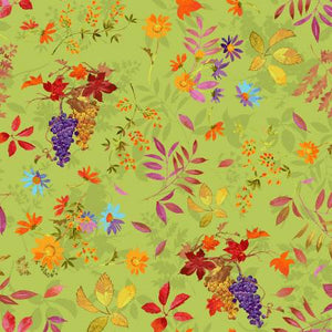 Fabric, Autumn Air, Olive Fall Bounty Y3000-24