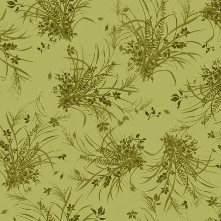 Fabric, Autumn Air, Dark Olive Harvest Tonal Y3001-25