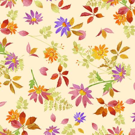 Fabric, Autumn Air, Multi Fall Floral Y3002-55