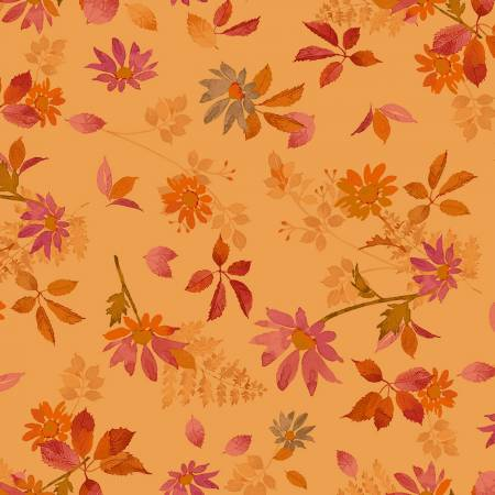 Fabric, Autumn Air, Light Rust Fall Floral Y3002-70