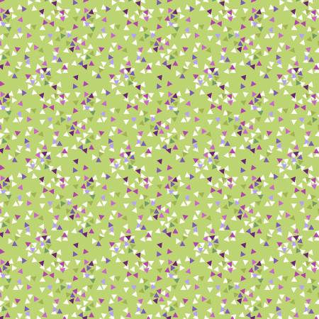 Fabric, Thistle Patch, Olive Triangles  Y3069-24