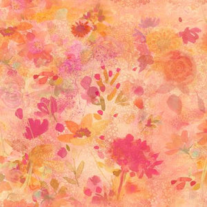 Fabric, Good Vibes, Coral Floral Y3119-39