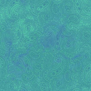 Fabric, Good Vibes, Dark Turquoise Paisley Y3122-101