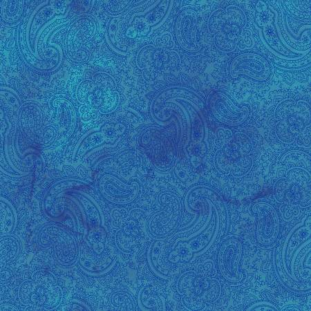 Fabric, Good Vibes, Dark Blue Paisley Y3122-30