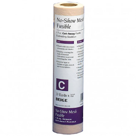 Embroidery Stabilizer No Show Mesh Fusible Cut Away-Beige BLC-306