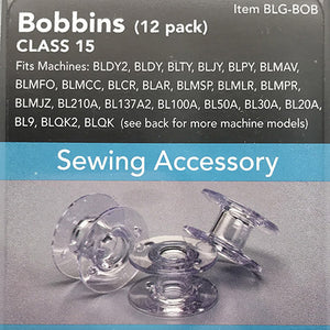 Sewing Machine Accessory, Plastic Bobbins Class 15, BLG-BOB