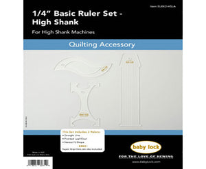 Sewing Machine Accessory Free Motion Quilting Ruler Set- High Shank BLRK2-HSLA