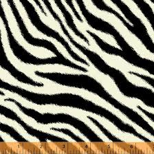 Fabric, Zebra Stripe 32743B-1