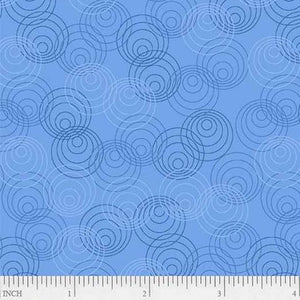 Fabric, Bear Essentials Light Blue Circles 00871 LB