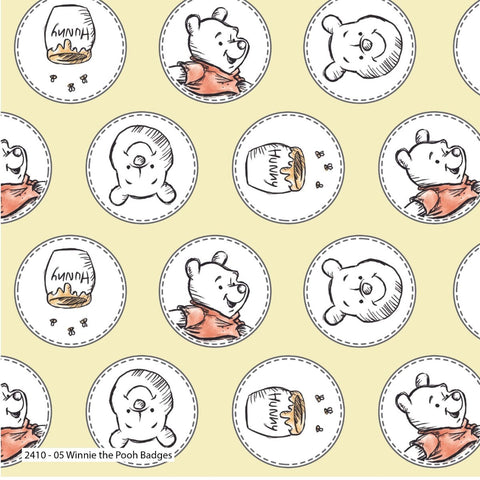 Fabric, Winnie the Pooh - CHAMOMILE CAM85430506-01