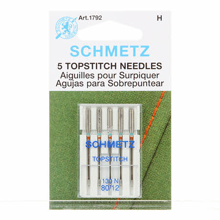 Schmetz Topstitch Machine Needle Size 12/80 # 1792