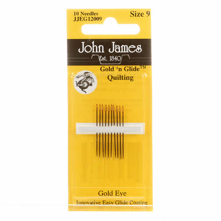 John James Gold'N Glide Between / Quilting Needles Size 9 10ct