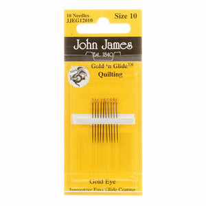 John James Gold'N Glide Between / Quilting Needles Size 10 10ct