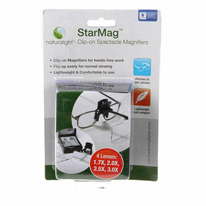 Star Mag Clip-on Spectacle Magnifiers with 4 lenses