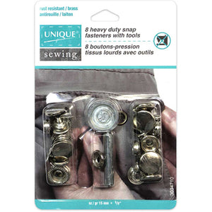 Heavy Duty Snaps Kit with Tool Nickel