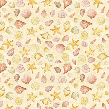 Fabric, Water Wishes Sea Shells Beige 3017 27578 558