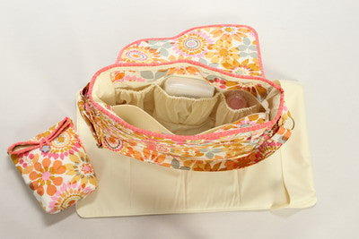 Pattern, Me & My Baby Diaper Bag, with change pad and insulated bottle bag