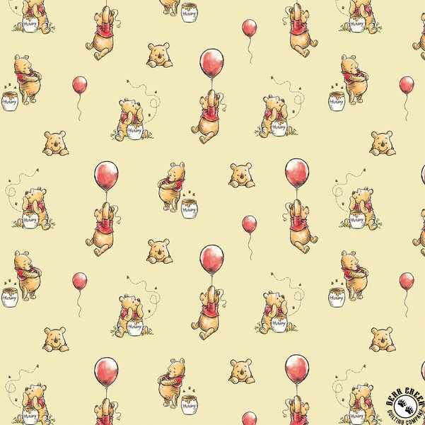 Fabric, Winnie the Pooh with Balloons Camelot Fabrics 85430503