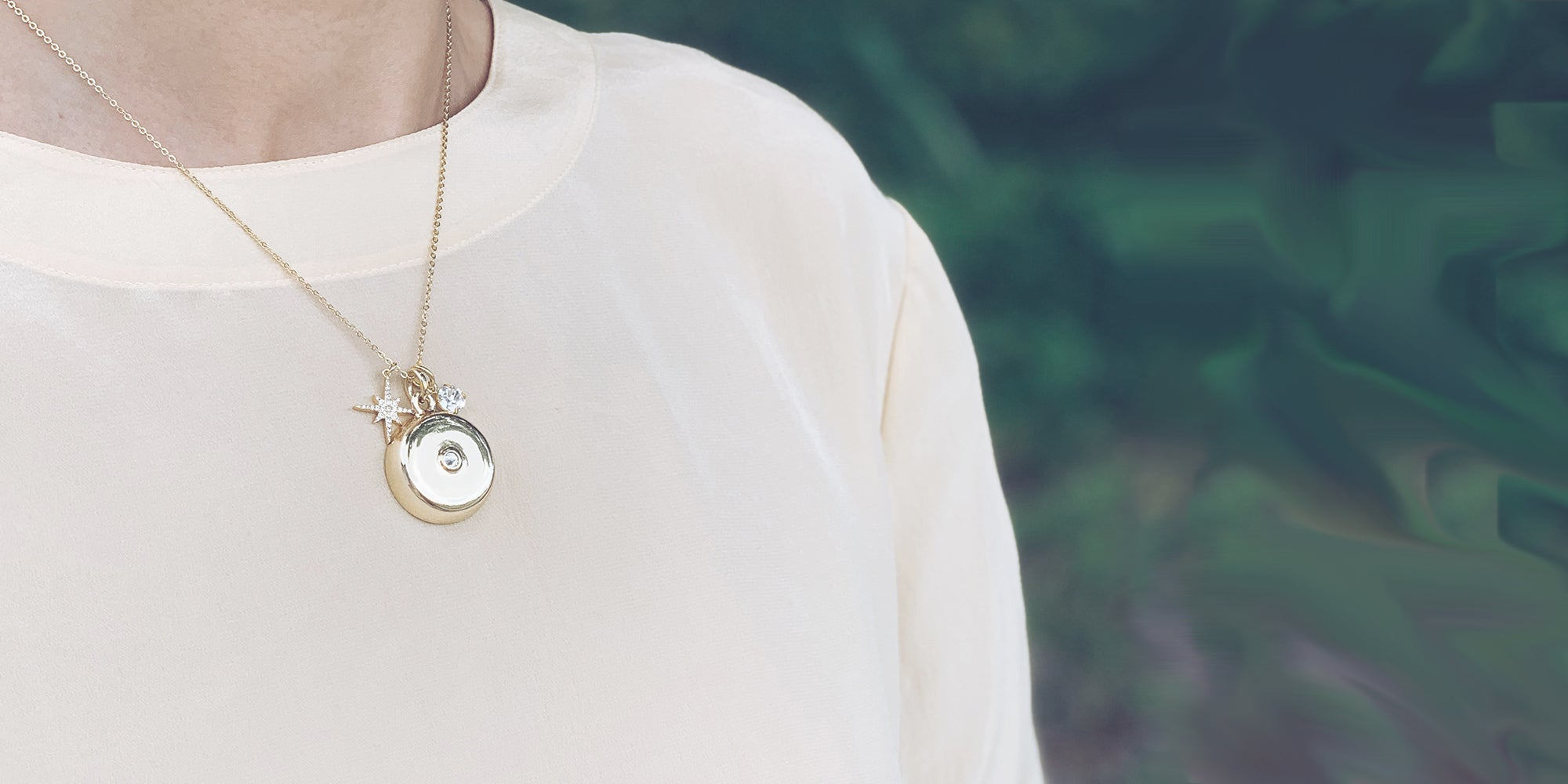 A necklace that alerts loved ones if you're in trouble.