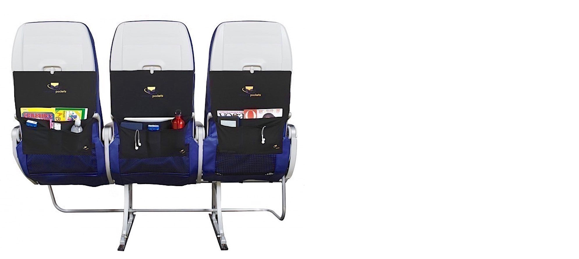 The original patented sanitary airplane tray table cover.