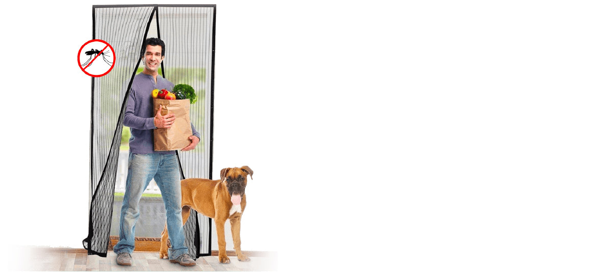 Keep bugs out with this easy to install screen door.