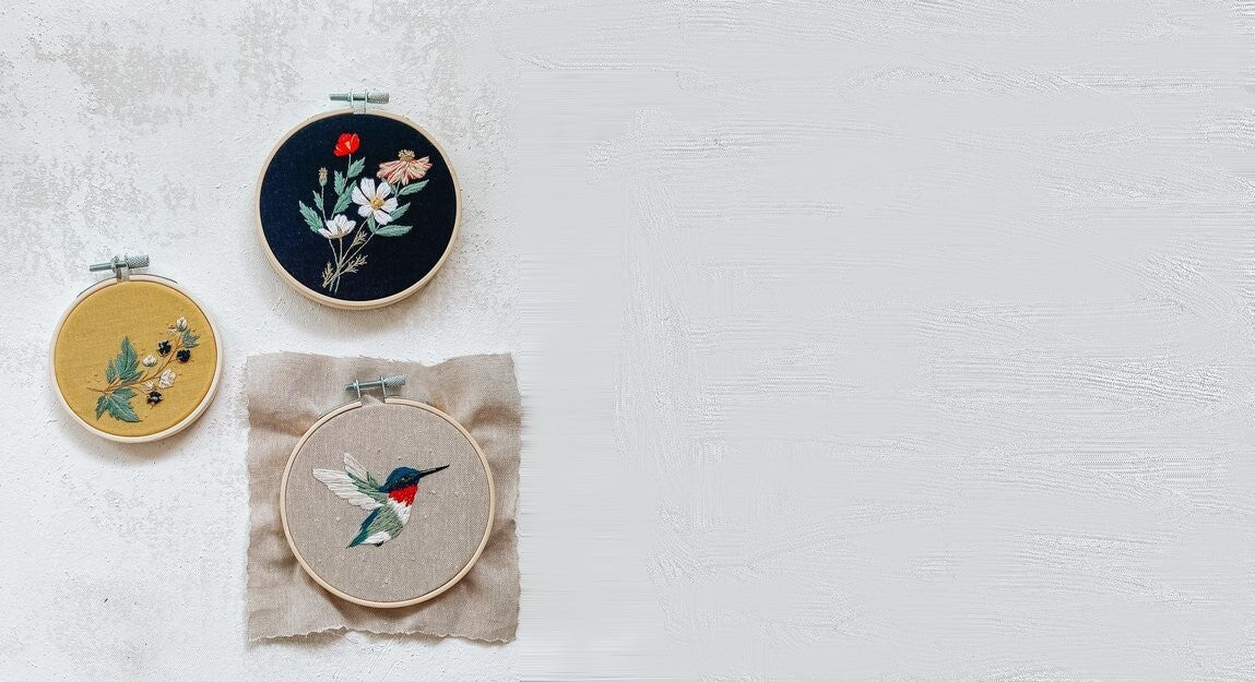 Embroidery kits to help slow down and enjoy your life.