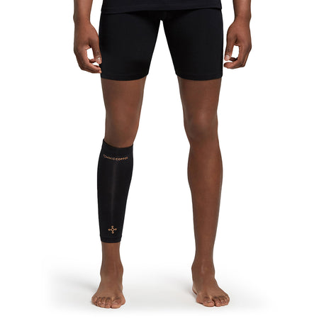Unisex Black Core Compression Calf Sleeve
