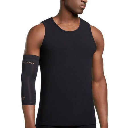 Unisex Black Core Compression Elbow Sleeve