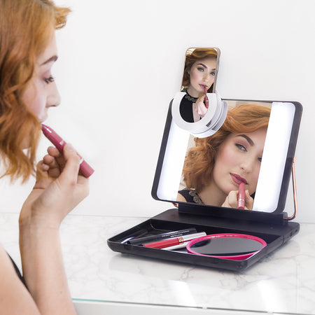 SPOTLITE HD ULTRA-BRIGHT TRUE DAYLIGHT MAKEUP MIRROR - SMOKEY EYE