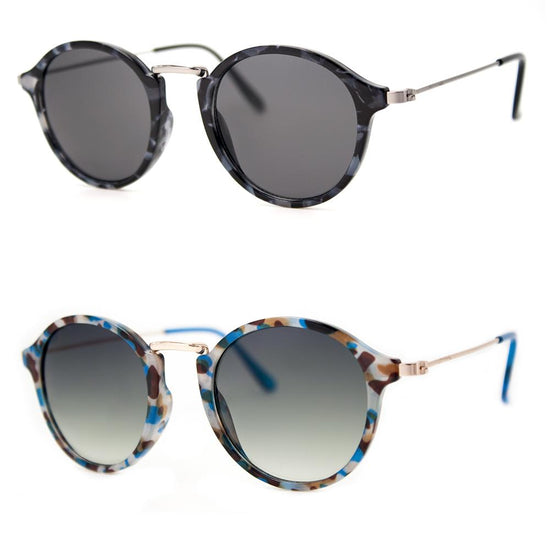 2 PC SUNGLASS BUNDLE - MUFFINS - LT.BLUE, GREY