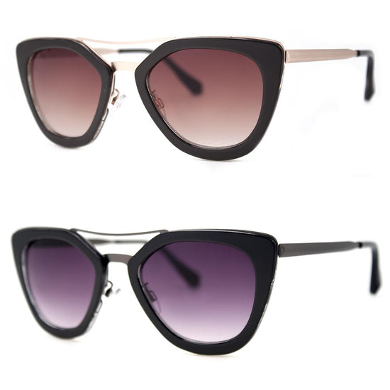 2 PC SUNGLASS BUNDLE - POWER 81 - BLACK, BROWN