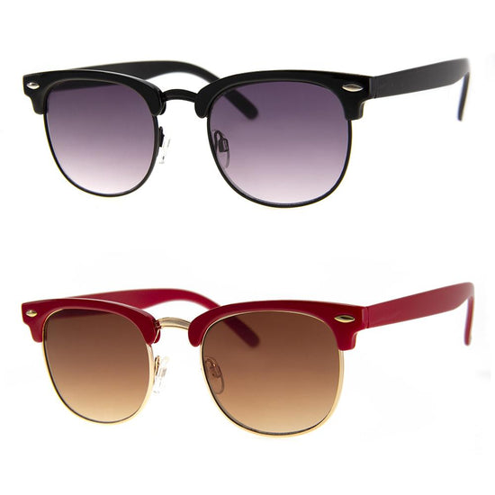 2 PC SUNGLASS BUNDLE - SCHEDULE - BLACK, RED