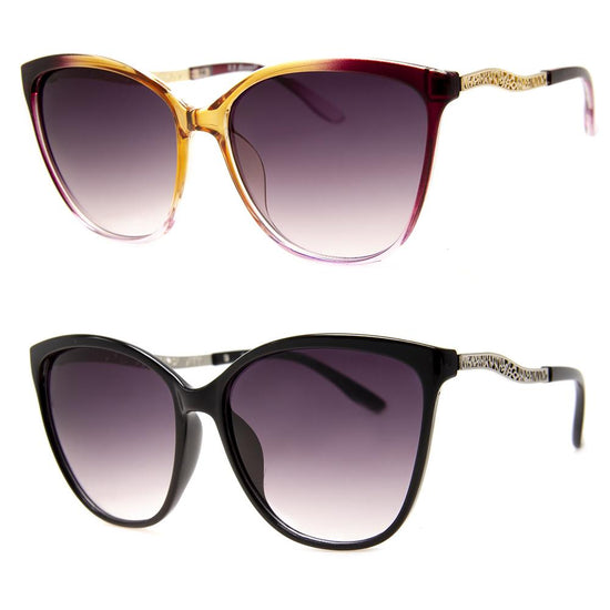 2 PC SUNGLASS BUNDLE - POLLYANA - AMBER, BLACK