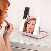 SPOTLITE HD ULTRA-BRIGHT TRUE DAYLIGHT MAKEUP MIRROR - BLUSH CRUSH