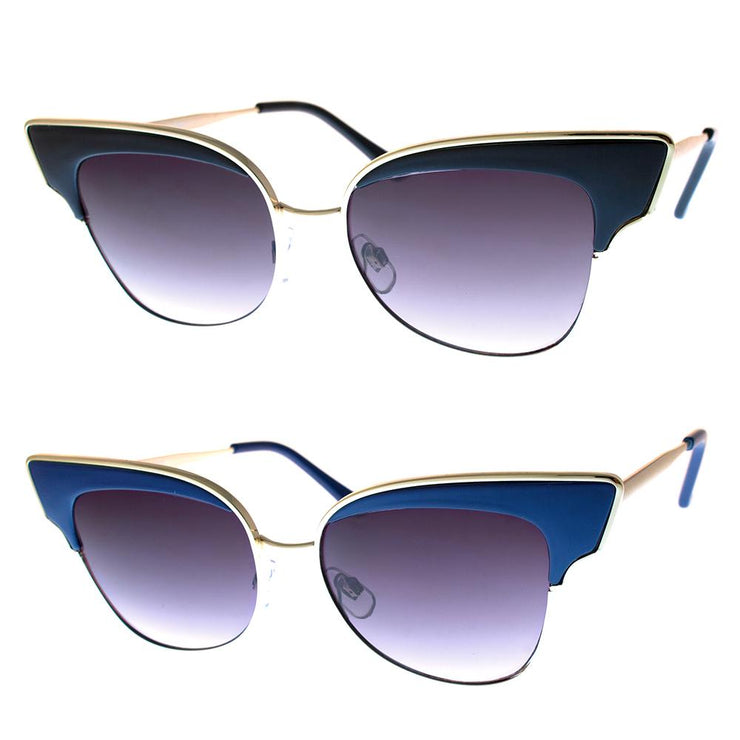 2 PC SUNGLASS BUNDLE - BETTY - BLACK, BLUE