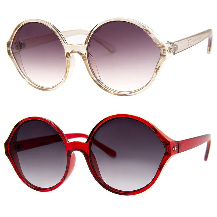2 PC SUNGLASS BUNDLE - LAST DANCE - CHAMPAGNE, RED