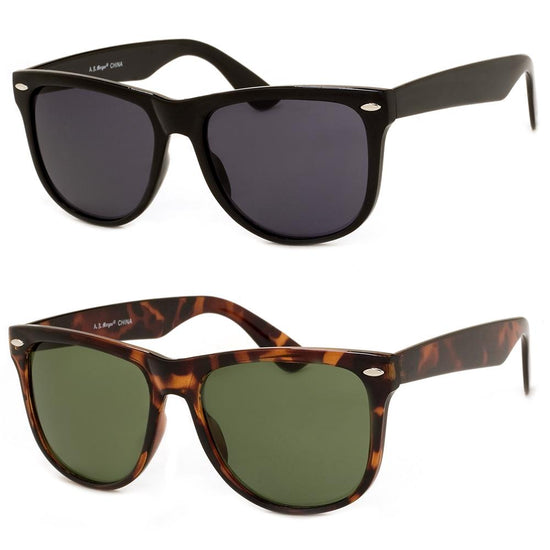 2 PC SUNGLASS BUNDLE - BIG W - BLACK, TORTOISE